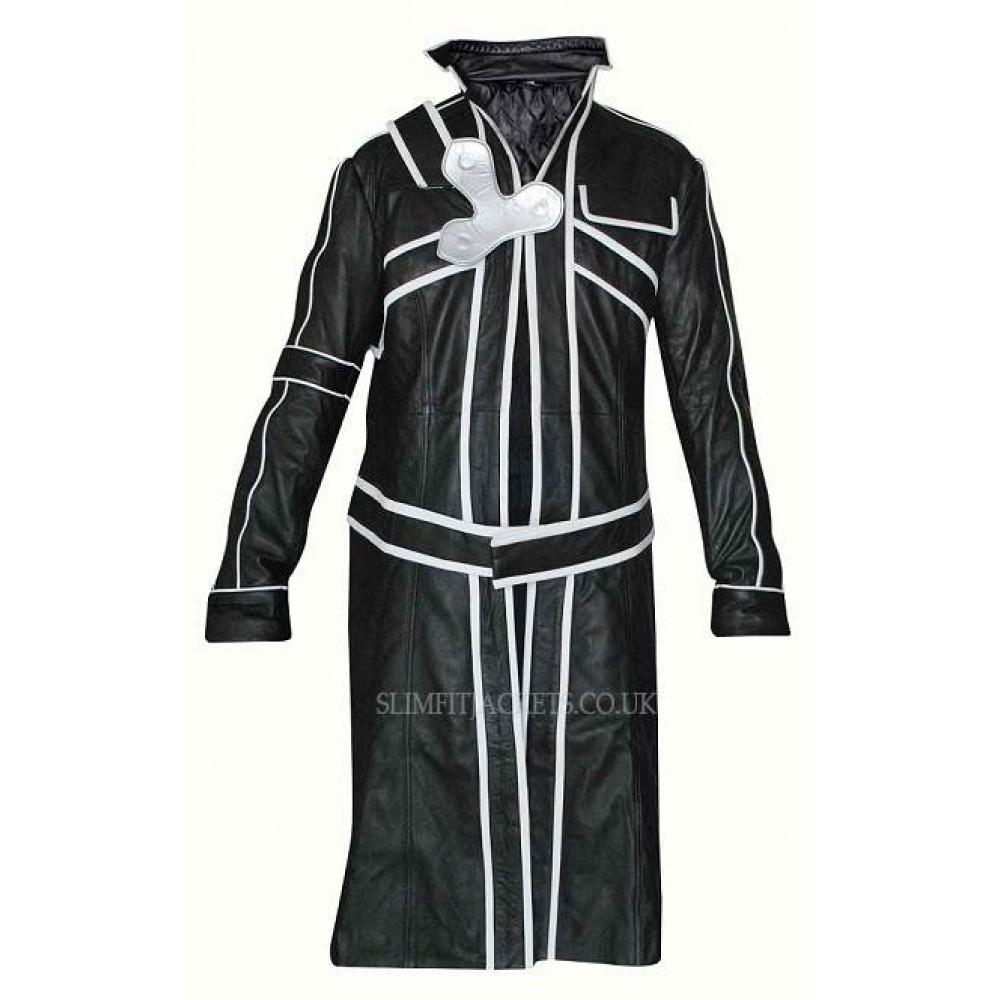 Sword Art Online Kirito Black Trench Coat