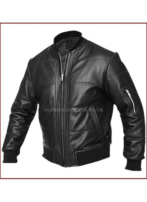Vintage Black Leather Jacket 118
