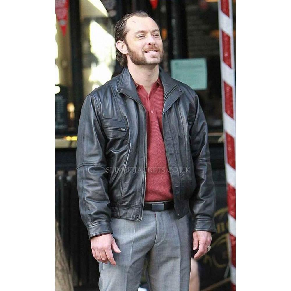 Dom Hemingway Jude Law Black Leather Jacket