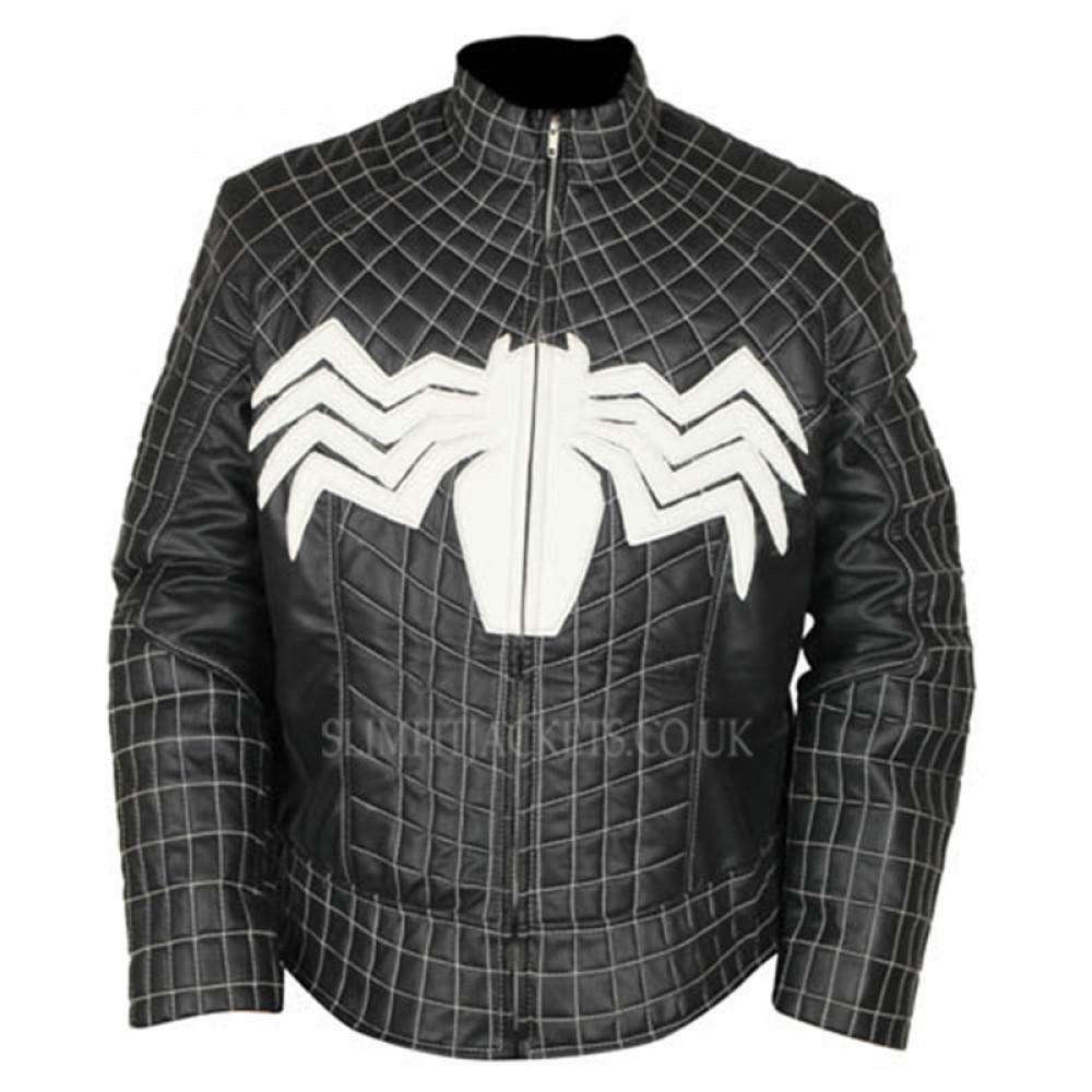 Tom Hardy Venom Costume Eddie Brock Black Leather Jacket