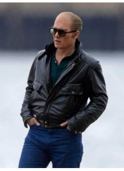 Whitey Bulger Black Mass Johnny Depp Black Jacket