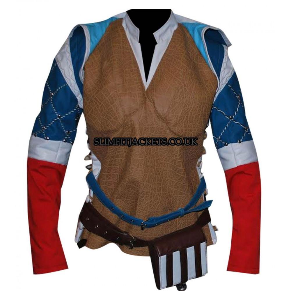 Witcher 3 Wild Hunt Triss Merigold Sorceress Brown Jacket