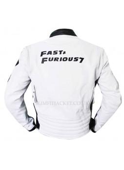 Furious 7 Premiere Vin Diesel White Jacket