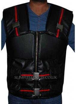 Wesley Snipes Blade Costume Stylish Black Leather Vest