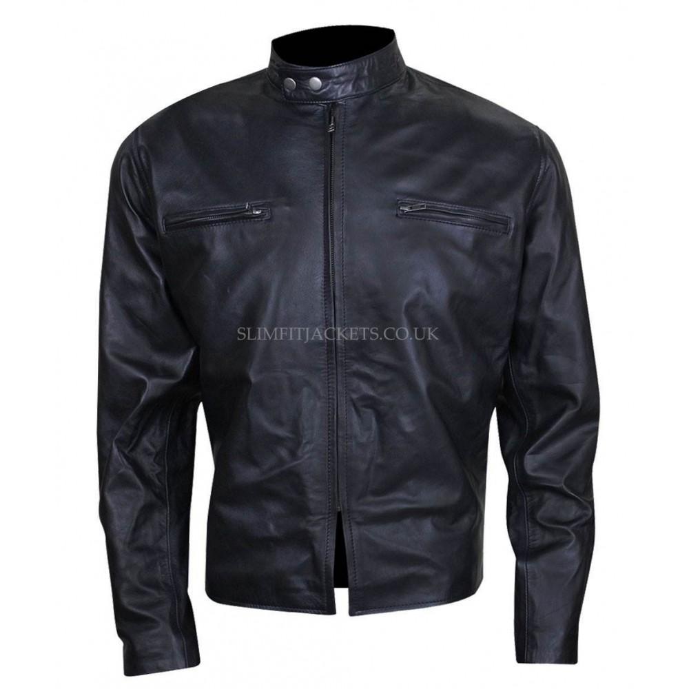 Adam Jones Burnt Bradley Cooper Black Leather Jacket