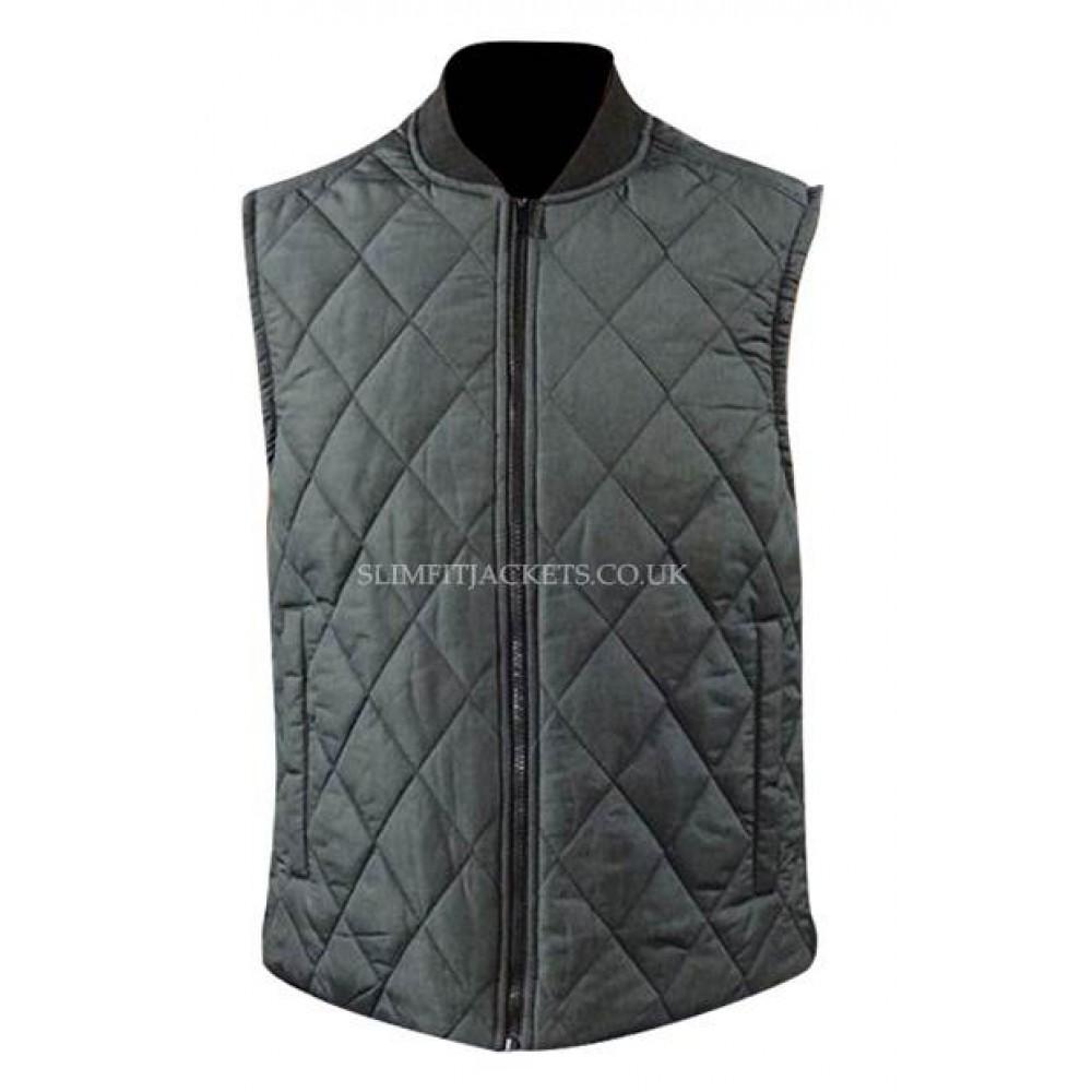 efd8b134b99547 Michael B Jordan (Adonis Creed) Black and Grey Quilted Vest