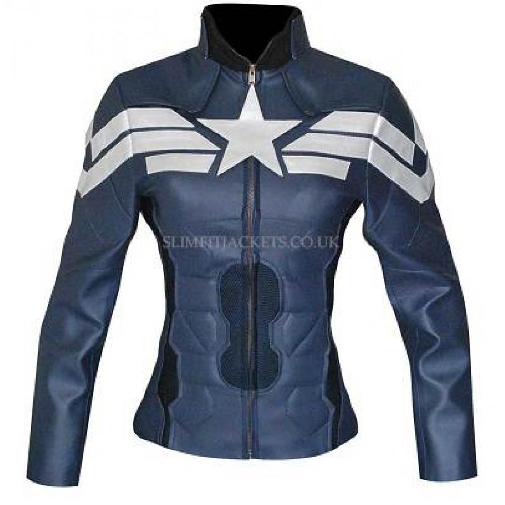 Captain America Women Winter Soldier Leather Costume