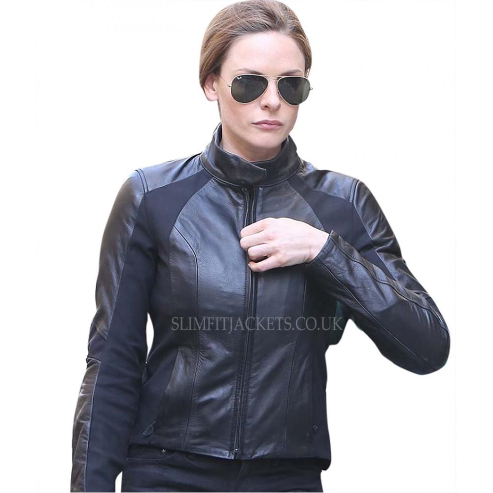 Rebecca Ferguson Mission Impossible 6 Fallout Ilsa Faust Biker Leather Jacket