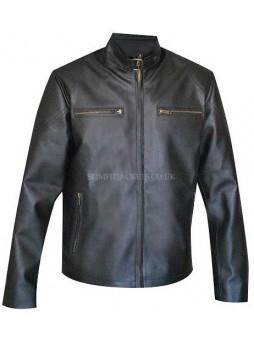 Jeremy Renner Age Of Ultron Hawk Eye Black Leather Jacket