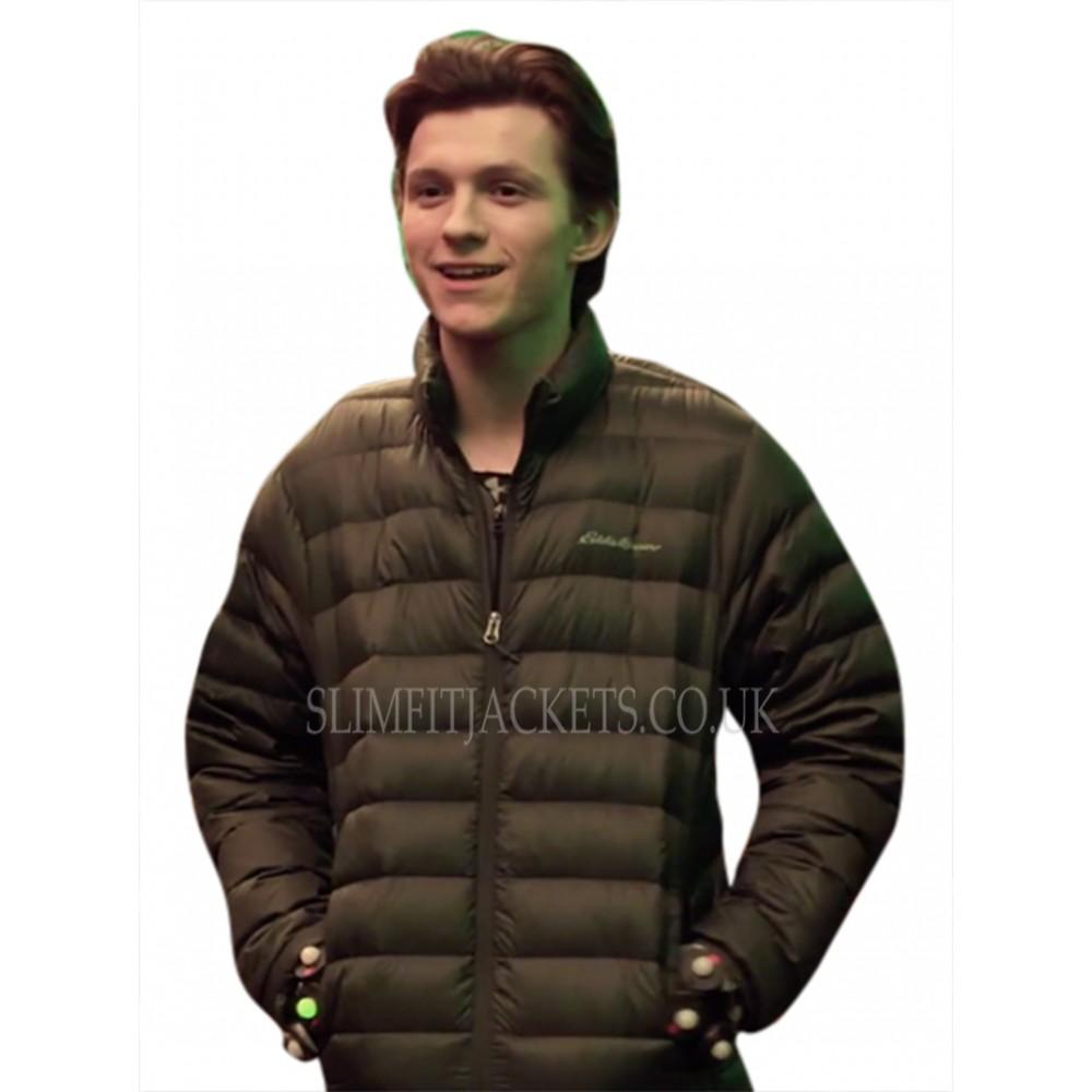 Tom Holland Avengers Infinity War Peter Parker Parachute Brown Jacket