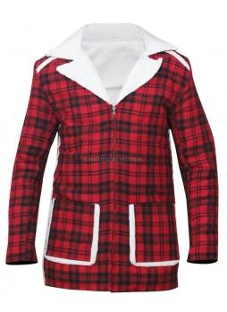 Deadpool Ryan Reynolds Shearling Red Jacket