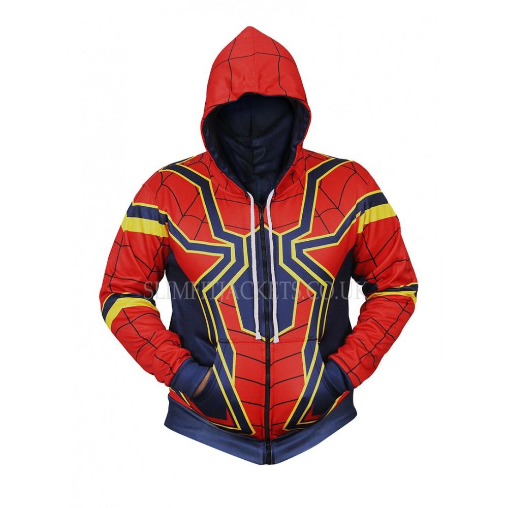Avengers Infinity War Iron Spiderman Costume Hoodie Jacket