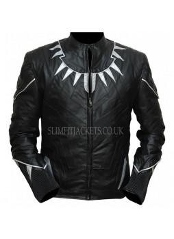 Black Panther Chadwisk Boseman T'challa Costume Leather Jacket