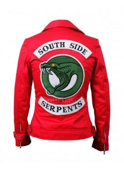 Riverdale Southside Serpents Cheryl Blossom Red Cotton Jacket
