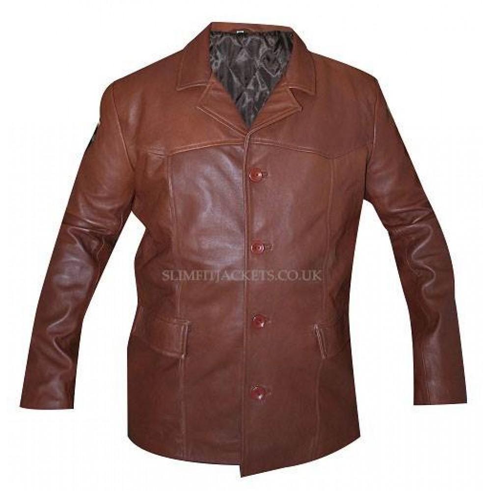 Longmire Lou Diamond Phillips Brown Leather Jacket