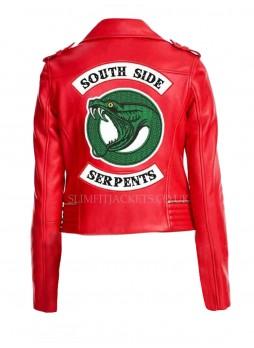 Riverdale Cheryl Blossom Southside Serpents Black / Red Leather Jacket