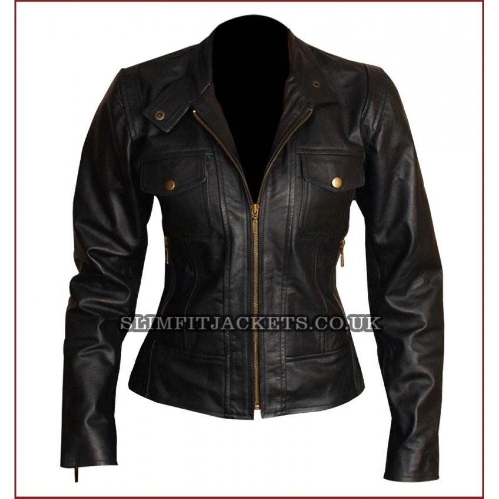 La S Petite Leather Jackets
